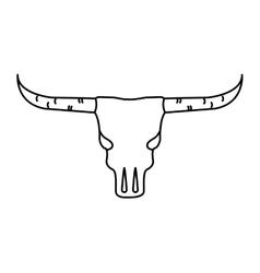 skull cow wild west icon vector image