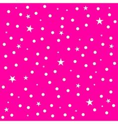 Star Polka Dot Pink Background vector image