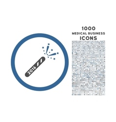 2016 Firecracker Rounded Icon with 1000 Bonus vector image