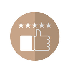 A rating icon design for confirming that place is vector