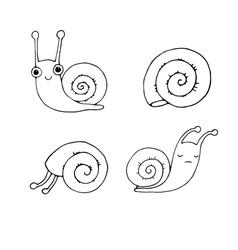 A set of cute little snails vector