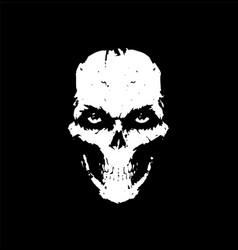 a white skull on a black background skull for vector image