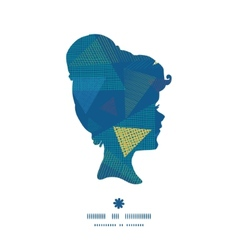 Abstract fabric triangles girl portrait silhouette vector