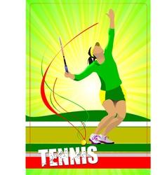 Al 0724 woman tennis 02 vector