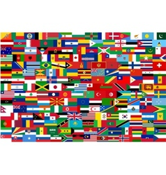 all flags all countries in one vector image