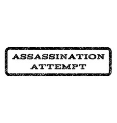 assassination attempt watermark stamp vector image