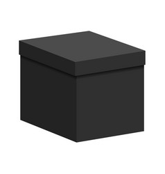 Black box with a lid vector