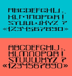 Black font numbers and punctuation marks vector