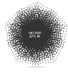 Black Halftone Design Element vector image