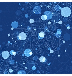 Blue abstract connections vector