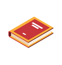 Book isometric icon vector