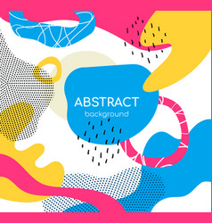 bright color chaotic shapes flat vector image