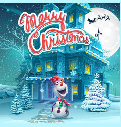 Cartoon marry christmas vector