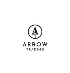 Circle spear arrowhead initial letter at ta logo vector