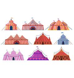 circus tent amusement park vintage carnival vector image