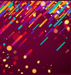Colorful abstract background on pink vector