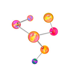 colorful chemical structure with atomic bonds in vector image