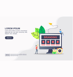 creative brand with icons branding technology vector image