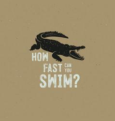 crocodile logo template symbol alligator vector image