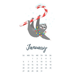 december 2019 year calendar page vector image