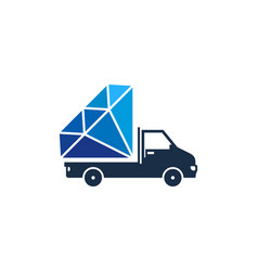 delivery diamond logo icon design vector image
