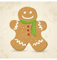 Doodle Gingerbread man vector
