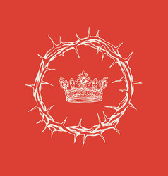 Easter banner with a crown thorns and a crown vector