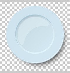 Empty classic light blue plate isolated vector