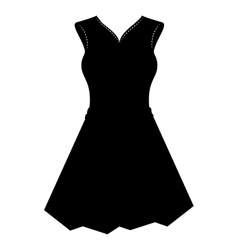 female clothes silhouette icon vector image