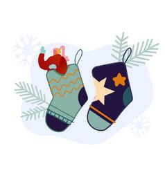festive winter season holiday people vector image