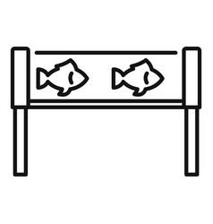 Fish industry aquarium icon outline style vector