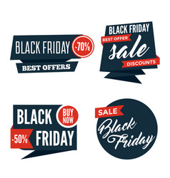 flat black friday colorful shaped banners price vector image