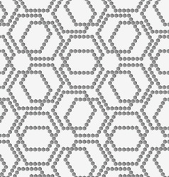 Flat gray with hexagonal complex grid vector image