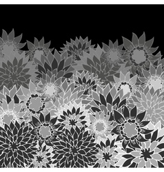 floral back vector image