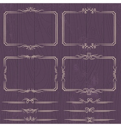 floral decorative borders ornamental rules divider vector image