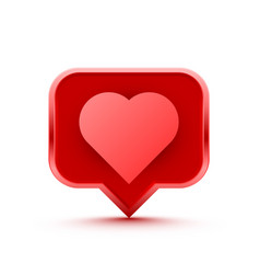 frame heart like social network white background vector image