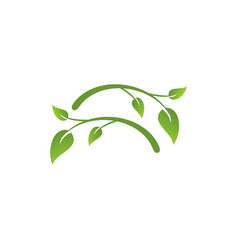 green nature logo vector image