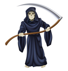 Grim reaper death skeleton vector