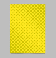 halftone circle pattern background brochure vector image