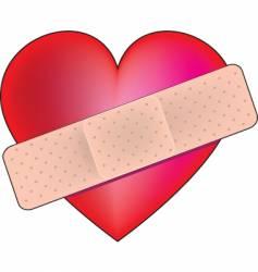 heart bandaid vector image