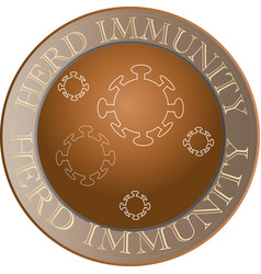 Herd immunity sign and icon vector