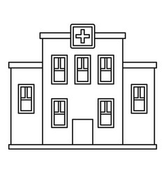hospital building icon outline style vector image