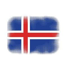Iceland flag halftone vector