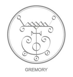 Icon with symbol demon gremory vector