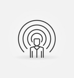 Influencer concept icon in thin line style vector
