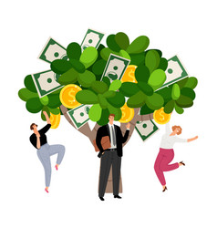 Investment profit money tree vector