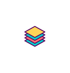 layers icon design stationery icon design vector image