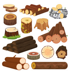 log tree lumbers or logging trunks and vector image