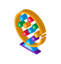 Lottery drum isometric icon vector