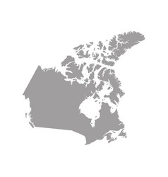 map canada in gray on a white background vector image